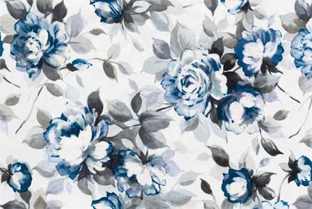 Scent of Roses Indigo by Wild Apple Portfolio art print