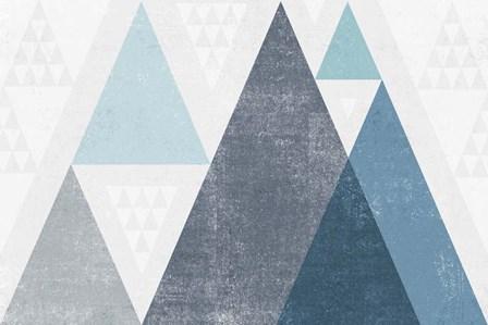 Mod Triangles I Blue by Michael Mullan art print
