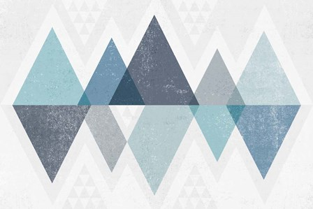 Mod Triangles II Blue by Michael Mullan art print
