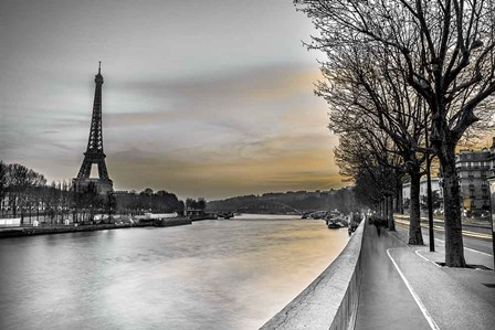 River Seine And The Eiffel Tower by Assaf Frank art print