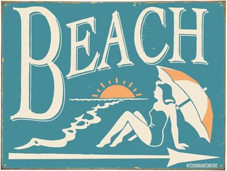 To The Beach by B.j. Schonberg art print