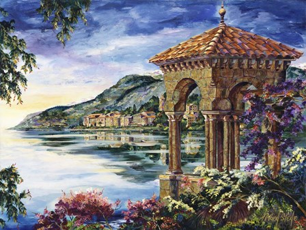 Vista To Bellagio by Karen Stene art print