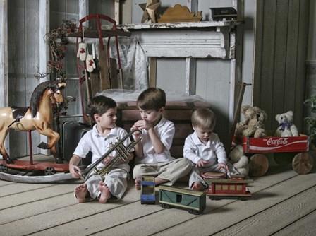Boys in Attic by Liz Zernich art print