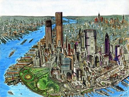 Manhattan 72 by Peter Potter art print