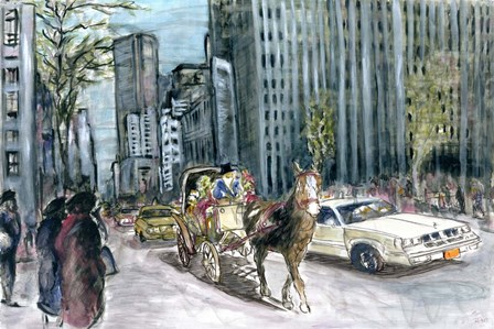 New York 5th Ave by Peter Potter art print
