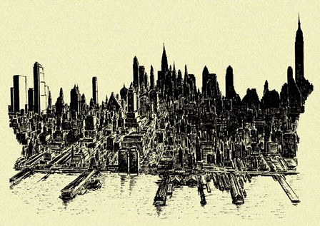 New York City 78 by Peter Potter art print