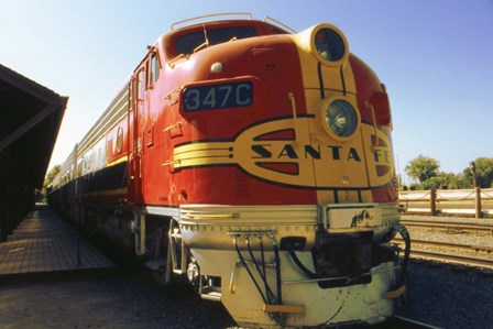 Santa Fe Railroad by Peter Potter art print