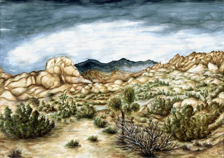 Joshua Trees by Peter Potter art print