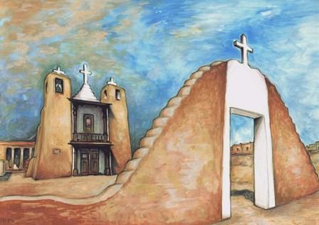 Taos Pueblo by Peter Potter art print