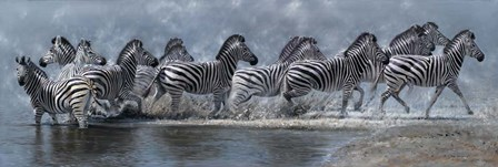 Flight Of The Zebras by Pip McGarry art print