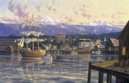 Bellingham Harbor by Randy Van Beek art print