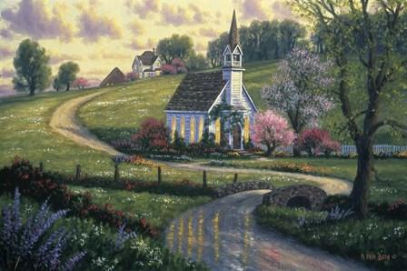 Community Church by Randy Van Beek art print