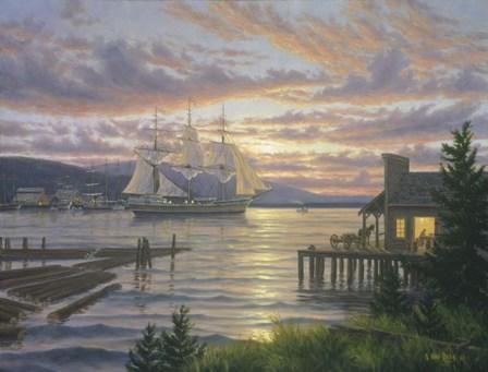Bellingham Lumber Port by Randy Van Beek art print