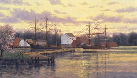 Mystic Harbor by Randy Van Beek art print