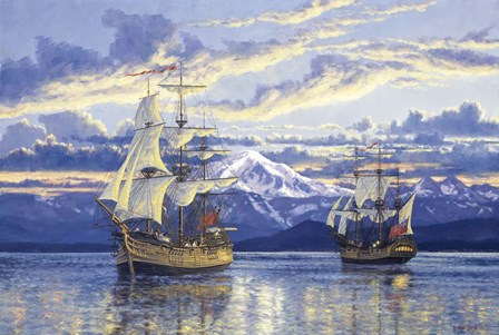Captain Van Couver Birch Bay, Wa 1792 by Randy Van Beek art print