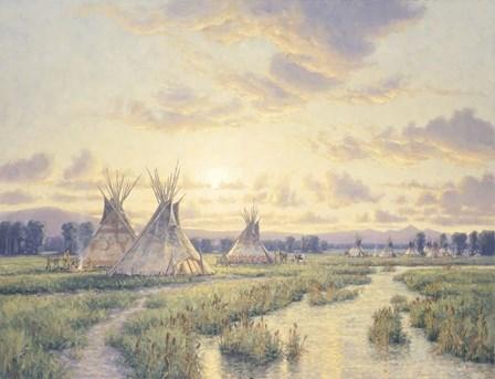 Sunset On A Noble Era by Randy Van Beek art print