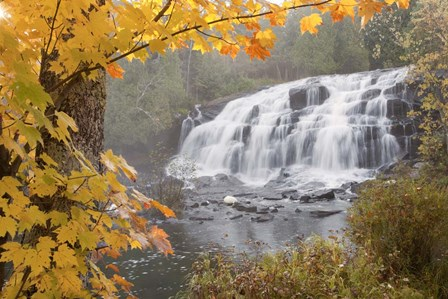 Lower Bond Falls In Autumn #2, Bruce Crossing, MI 11 by Monte Nagler art print