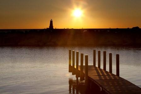 Ludington Sunset, Ludington, Michigan 12 by Monte Nagler art print