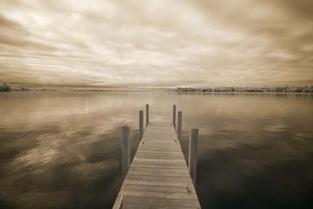 Dock at Crooked Lake, Conway, Michigan 09 by Monte Nagler art print