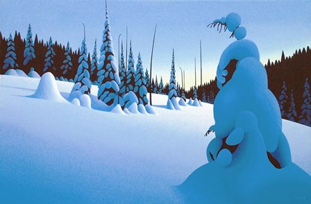 Snowy Dawn by Ron Parker art print