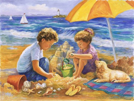 Beach Fun by Rosanne Kaloustian art print