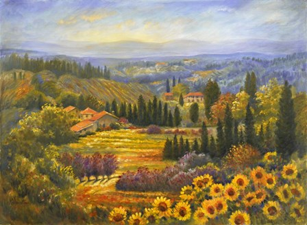 Tuscan Countryside by Rosanne Kaloustian art print