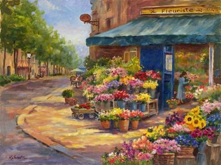 Fleuriste Flower Market Paris by Rosanne Kaloustian art print