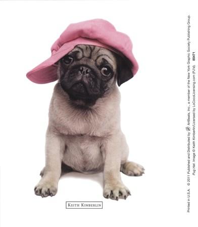 Pug Hat art print