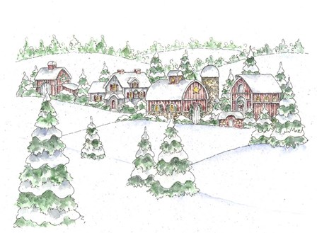 Winter Farm by Shelly Rasche art print
