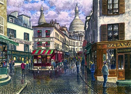 Montmartre A Break In The Storm by Stanton Manolakas art print