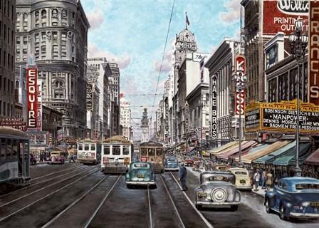 1941 Market St. San Francisco by Stanton Manolakas art print