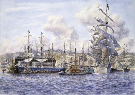 Long Wharf,  Santa Monica by Stanton Manolakas art print
