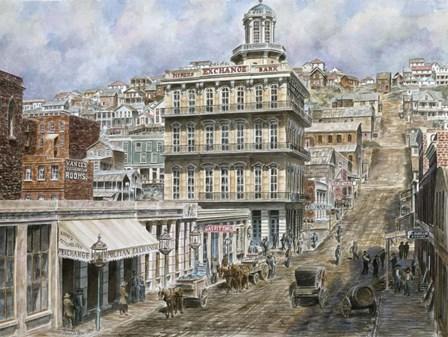 San Francisco, Knob Hill 1854 by Stanton Manolakas art print