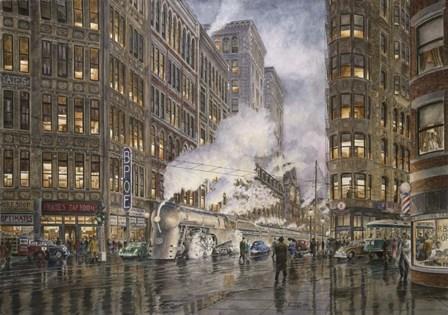 20Th Century Ltd. At Syracuse NY, Washington And Wharf Sts., c.1936 by Stanton Manolakas art print