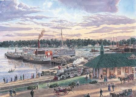 Harbor Springs Mich. by Stanton Manolakas art print