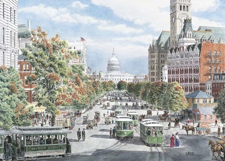 Washington D.C. Gridlock by Stanton Manolakas art print