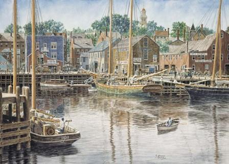 Old  Gloucester by Stanton Manolakas art print