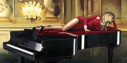 Piano Lady by Pierre Benson art print