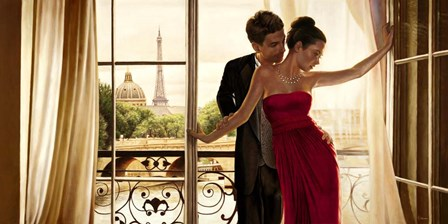 Lovers in Paris by Pierre Benson art print