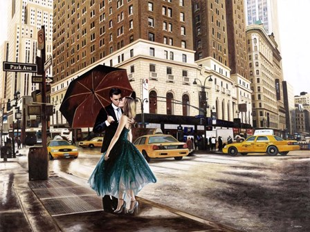 Kiss in Park Avenue by Pierre Benson art print