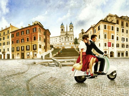 Lovers in Rome by Pierre Benson art print