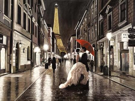 Kissing in Paris by Pierre Benson art print