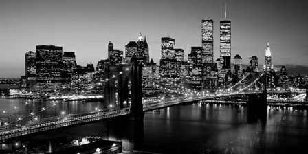 Brooklyn Bridge, NYC BW Pano by Richard Berenholtz art print
