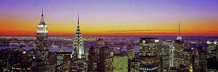 Midtown Manhattan at Sunset, NYC by Richard Berenholtz art print