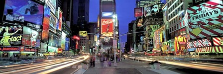 Times Square facing North, NYC by Richard Berenholtz art print