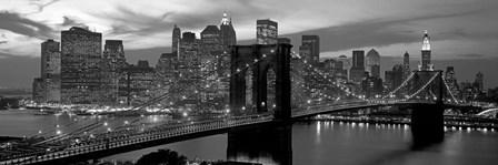 Brooklyn Bridge and Skyline by Richard Berenholtz art print