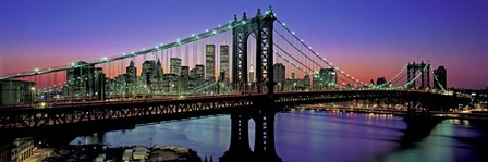 Manhattan Bridge and Skyline by Richard Berenholtz art print