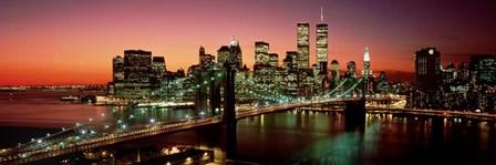Brooklyn Bridge, NYC Pano by Richard Berenholtz art print