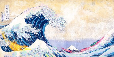 Hokusai's Wave 2.0 (Detail) by Eric Chestier art print