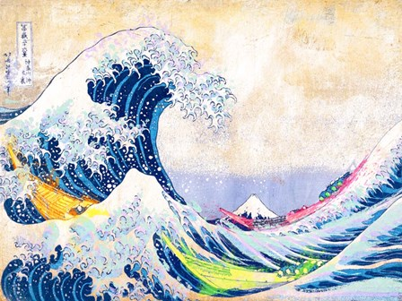 Hokusai's Wave 2.0 by Eric Chestier art print